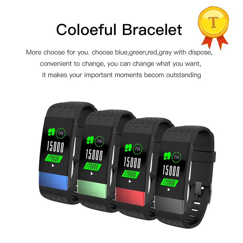 US $53 36 8% OFF|best quality Smart Band color Display Heart Rate Monitor  calorie alarm clock Fitness Tracker Bracelet wrist Watch pk MiBand 2-in