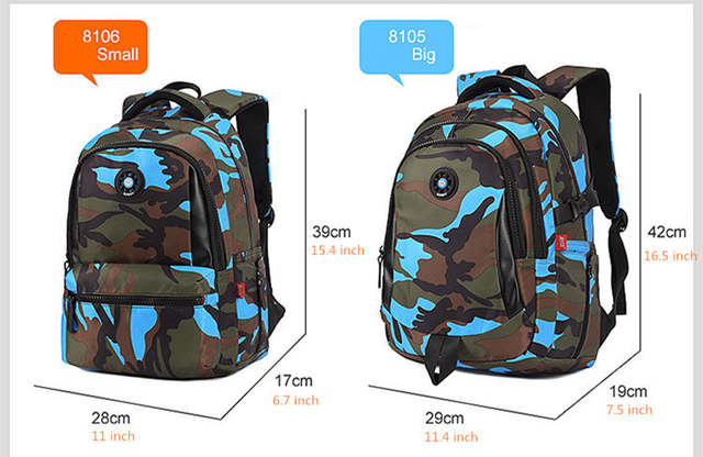 381180381e0e placeholder waterproof camouflage backpack boys school backpack children  school bags for teenagers girl schoolbag men travel bags