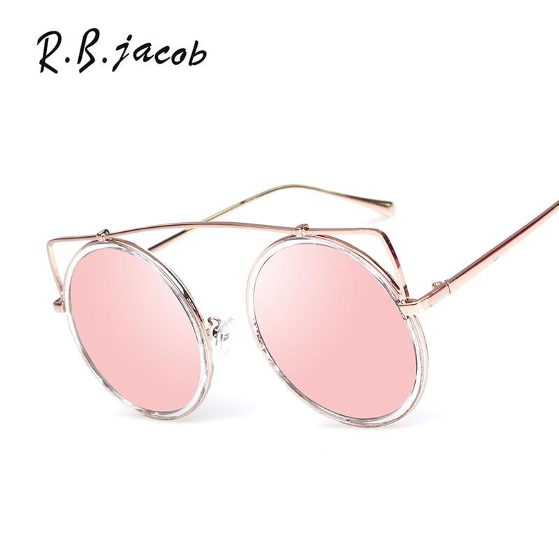Oversized Fashion women Cateye Brand Designer 2017 Sunglasses New Lady UV400 Mirror Sun Glasses Big Size Metal Frame