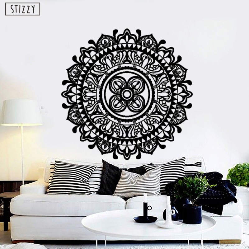 Bohe Mandala Flower Wall Paper Decor Yoga Studio Vinyl