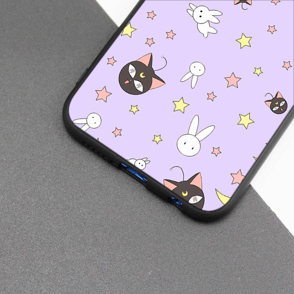 Cubierta de la caja de silicona para Huawei P20 P10 P9 P8 Lite Pro 2017 P inteligente + 2019 Nova 3i 3E teléfono los casos de Sailor Moon