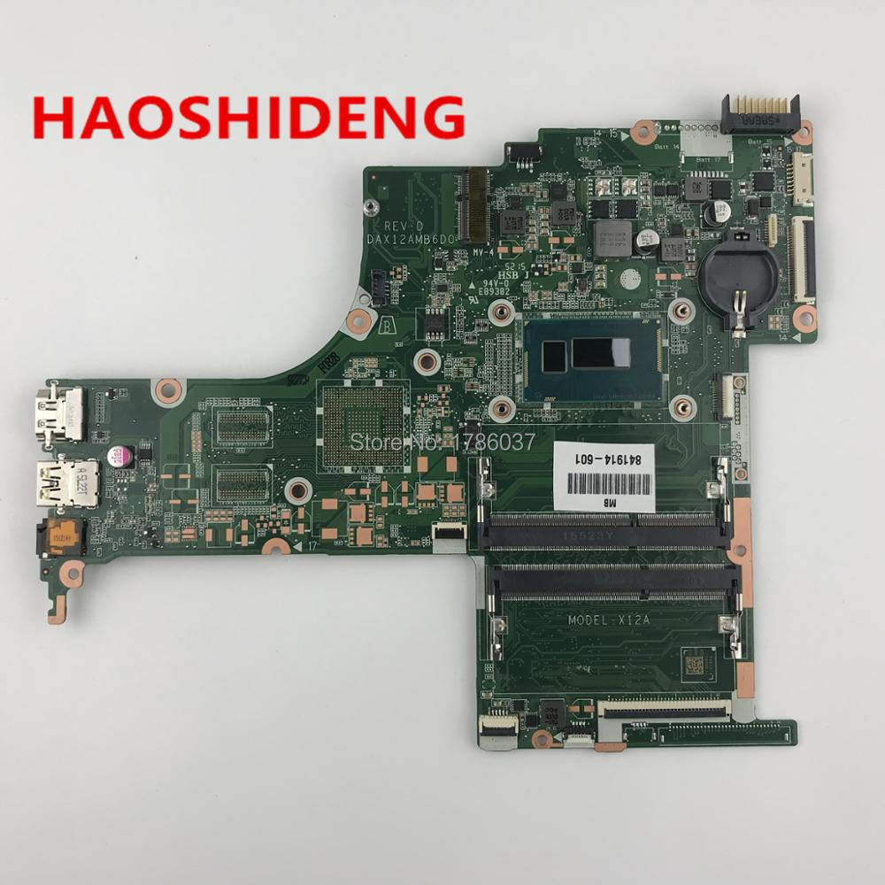 841914-601 X12A For HP Pavilion Notebook 15-ab Laptop Motherboard with i5-4210U CPU DAX12AMB6D0,All functions fully Tested! free shipping 779457 501 u88 for hp pavilion 15 n 15 f series motherboard with n2830 cpu all functions 100