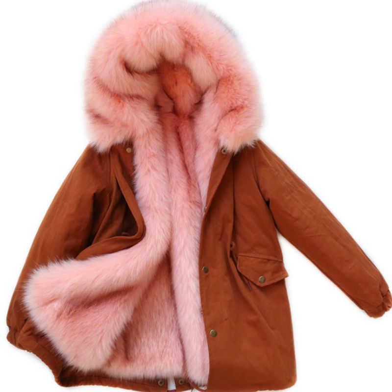 Children Winter Girl Faux Fur Jacket Faux Fox Fur Hooded Coat Boy Thicken Warm Cotton Long kids Parkas Outerwear & Coats LK080 стоимость