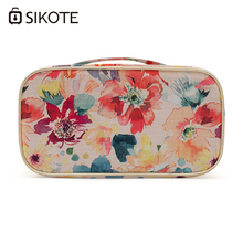 SIKOTE Cosmetic Bag Portable Square Travel Package Waterproof Pouch Polyester Women Makeup Storage Bag Cosmetic Cases