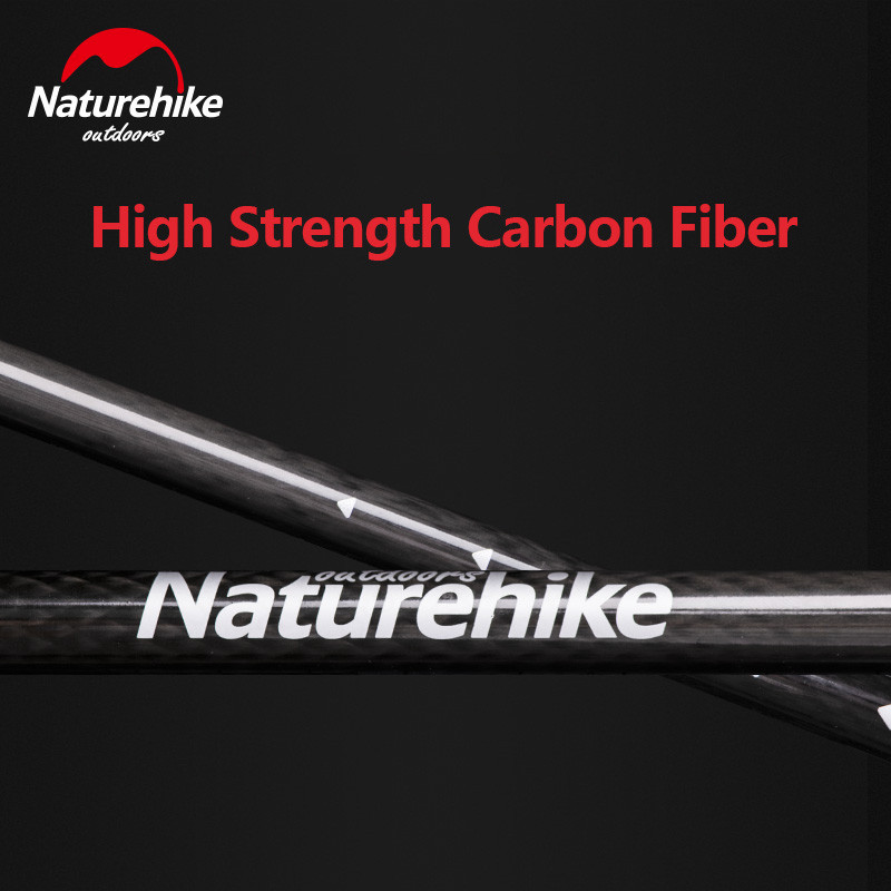 Naturehike Outdoor Ultralight Walking Stick Protable Hiking Carbon Fibers Trekking Poles 3 Section Outer Lock Stick