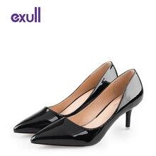 EXULLแบรนด์คลาสสิกบางรองเท้าส้นสูงเซ็กซี่ผู้หญิงรองเท้าหรูหราปั๊มแฟชั่นรองเท้าสุภาพสตรีC Haussure F Emmeกรงเล็บ#16170878