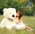 Hot!!! Giant 95CM Big Cute Beige Plush Teddy Bear Huge Soft 100% Cotton Toy