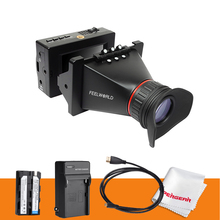 Feelworld 3 5 Viewfinder SDI Electronic LCD DSLR Camera View Finder Battery Charger for BMCC BMPCC