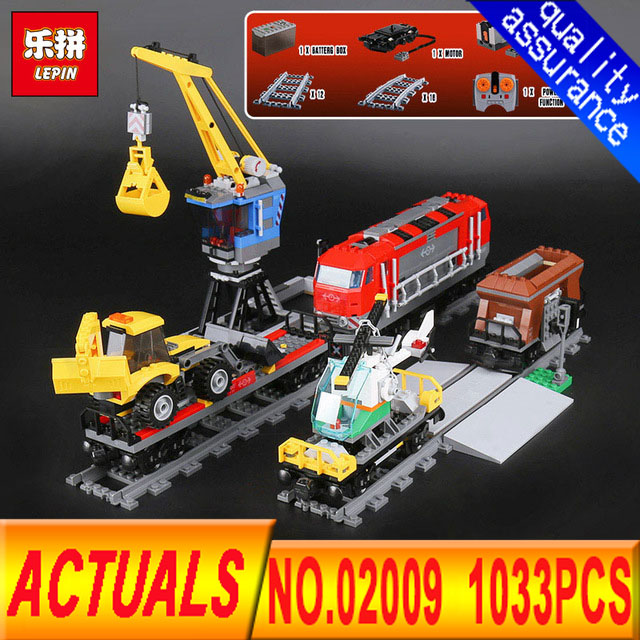 Lepin 02009 Department of class 1033pcs City Engineering Remote Control RC Train Building Block Compatible 60098 Brick Toy гардеробная in the department of