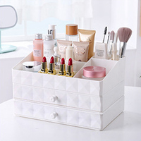 Plastic Cosmetic Organizer Box Makeup Drawer Storage Container Jewelry Storage Box Casket Holder Desktop Sundry Case