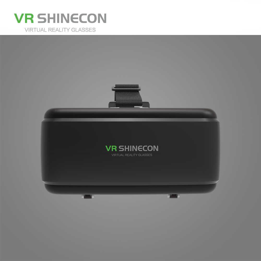 VR Shinecon G06 Helm 3D Virtual Reality Kacamata untuk iPhone Android Smartphone Smartphone Kacamata Android