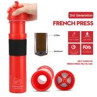 Draagbare 3e Generatie Franse Persen Koffie Flessen Outdoor Koffie Filter Druppelaar Garrafa Termica Thermo Theepot