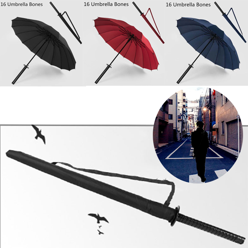 New Samurai Sword Handle Umbrella Ninja Katana Japanese Long Umbrella