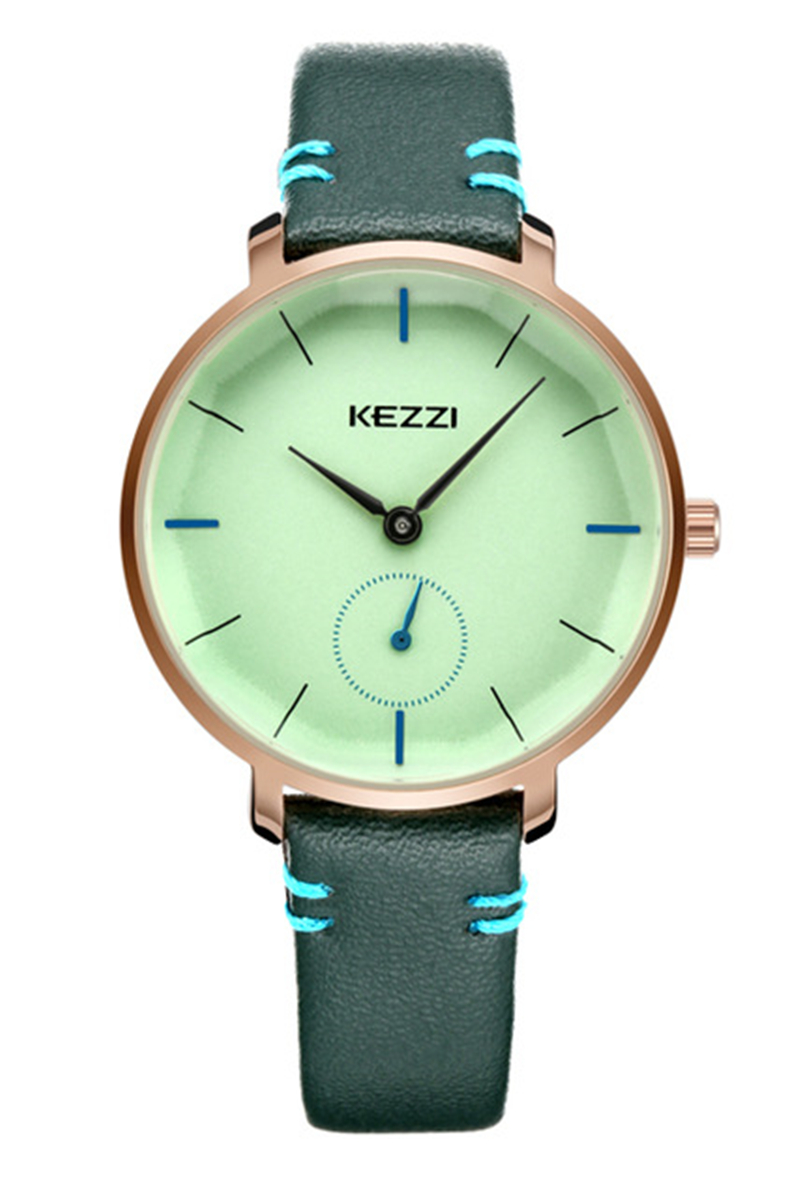 KEZZI Brand Fashion Leather Strap Watch Women Business Wristwatch Ladies Quartz Watch Casual Hours Clock Relogio Feminino k1717 miler vintage fashion watch women retro leather strap world map casual quartz wristwatch ladies creative clock relogio feminino