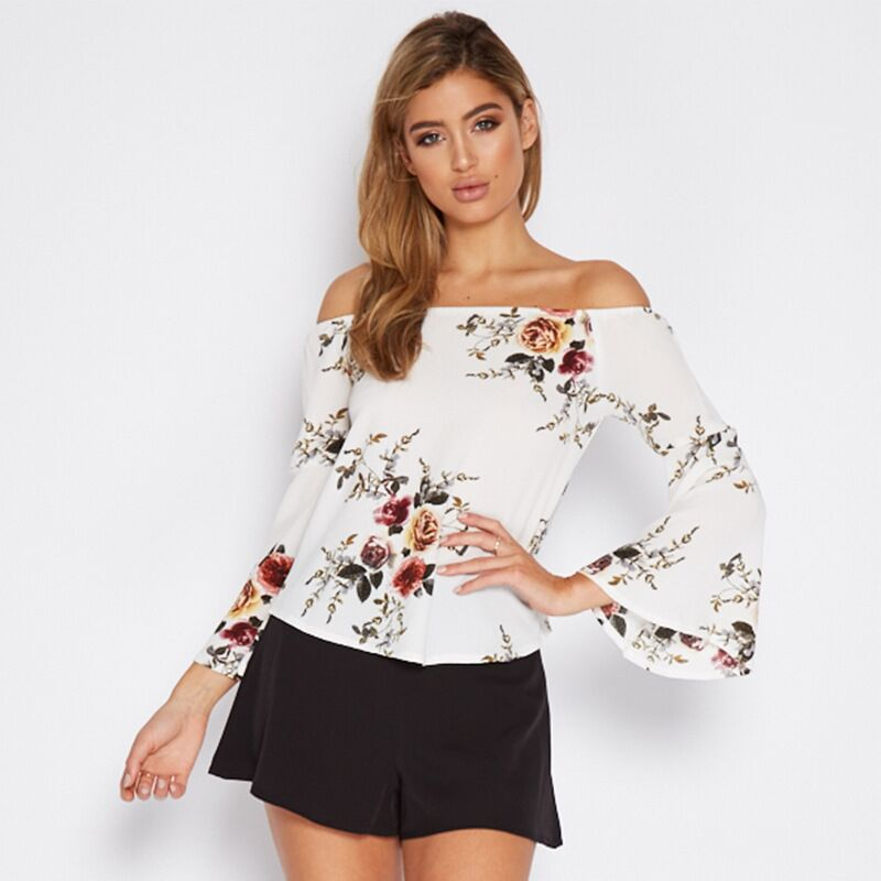 2017 Plus Size Women Clothing Slash Neck Summer Women T-shirt Casual Loose Off shoulder Large Size Hollow Out sleeves Tops 9