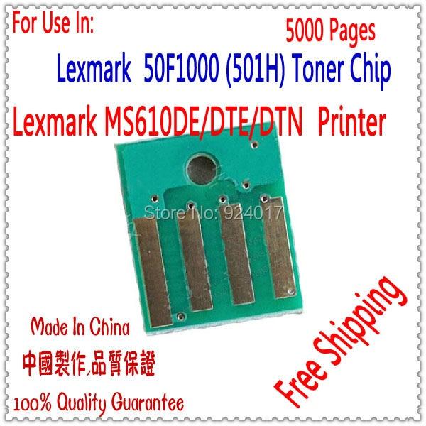 Compatible Toner Chip Lexmark MS510 MS610 Printer For Lexmark 510 610 Chip For Lexmark MS510DN MS610DN Toner Refill Chip 501H 5K chip lexmark toner chips lexmark chip - title=