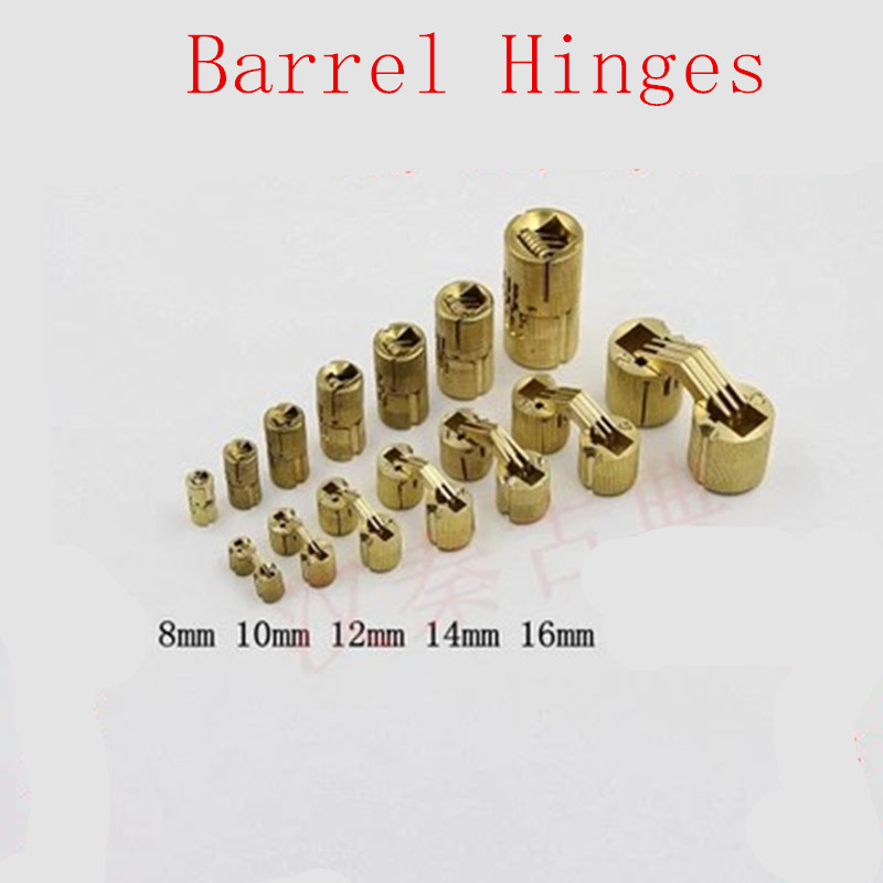 Aliexpress com : Buy 1PC 8mm 10mm 12mm 14mm Copper Barrel Hinges  Cylindrical Hidden Cabinet Concealed Invisible Brass Hinges Mount from  Reliable