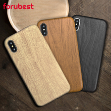 Wooden Pattern Soft TPU Cover For iPhone 7 Case 7plus 6 6S Plus Wood Grain Soft Back Shell For iphone 8  X XR XS MAX 11 Pro MAX panda pattern detachable protective wood back case for iphone 5c brown black