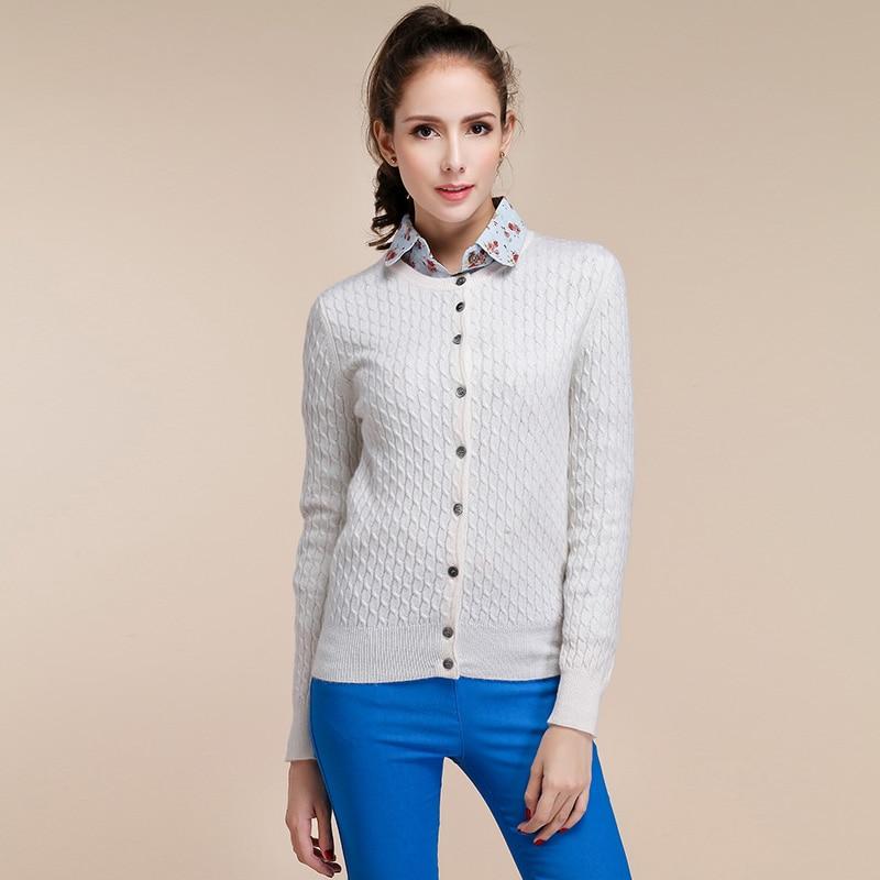 Women's Long Sleeve Knitted Cashmere Cardigan Sweater Women Autumn ...