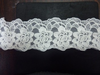 Free shipping Flower white cotton embroidered lace,3-15cm width,XERYmx070