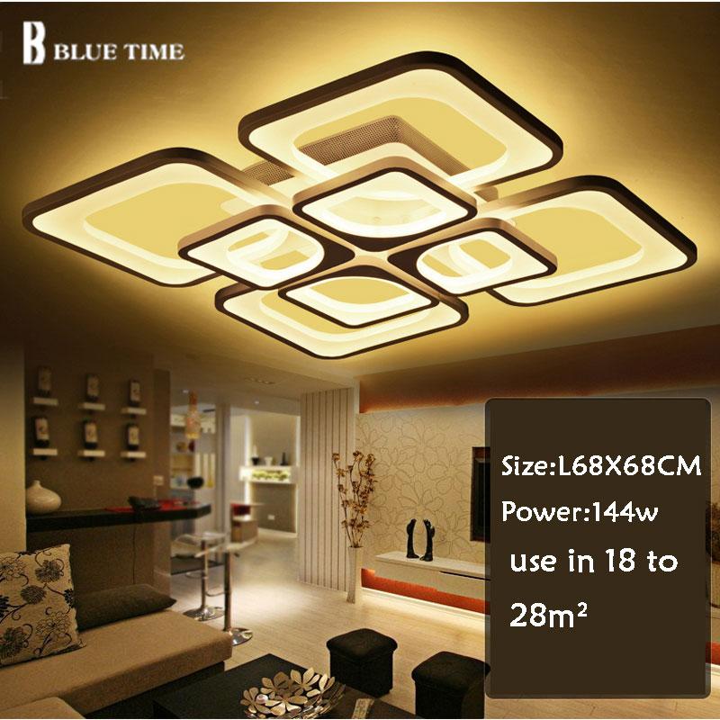 New Modern LED Chandeliers For Living Room Bedroom 8 Rings Led Chandeliers Home Lighting D90x60cm 160w