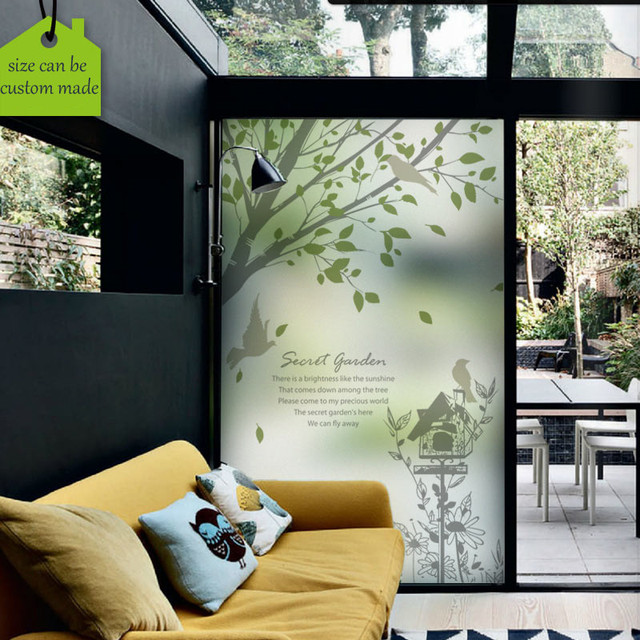 Custom Size Decorative Self Adhesive Window Film Static Cling Privacy Gl Stickers Stained Decals Dining Room
