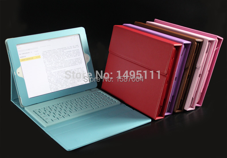 Leather Case Wireless Bluetooth Keyboard For IPad 2 3 4 IPad3 2nd Stand Bag Multi Color