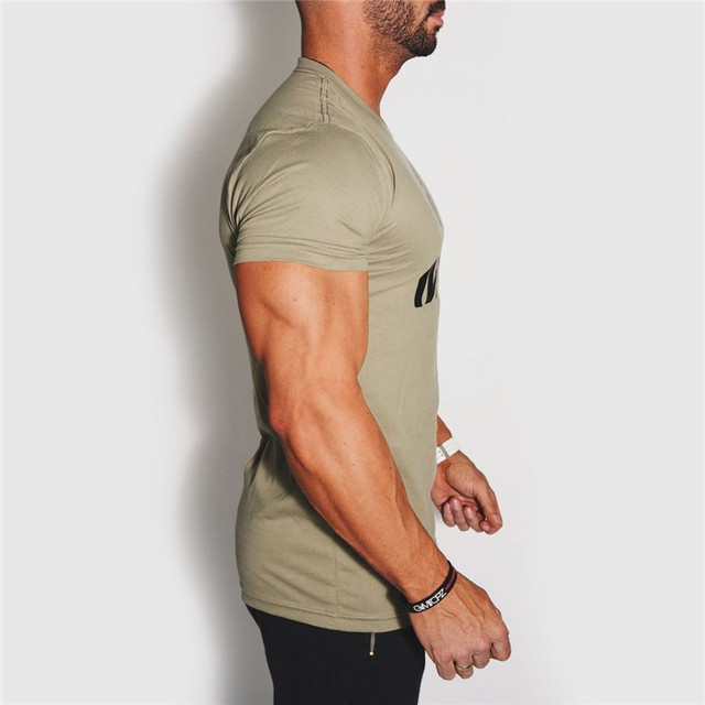 YEMEKE 2018 Men's T-shirt Casual Tees Bodybuilding Fashion Brand Clothing Man Fitted Workout Compression Shirts for Men 3
