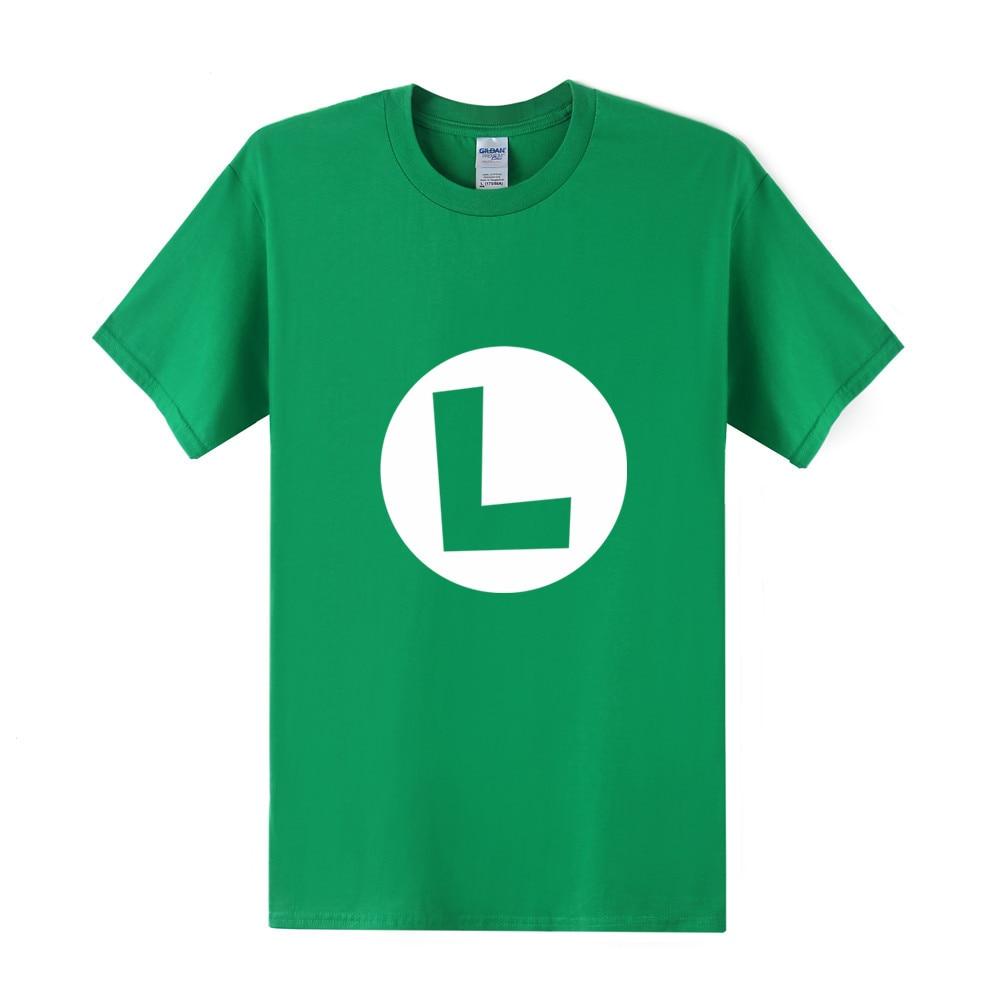cb0498c1b Fashion New Super Mario Luigi Mens T Shirt Cartoon Men Tee Shirt Short  Sleeve Cotton Mario Brothers Men Clothing Tops OT-287