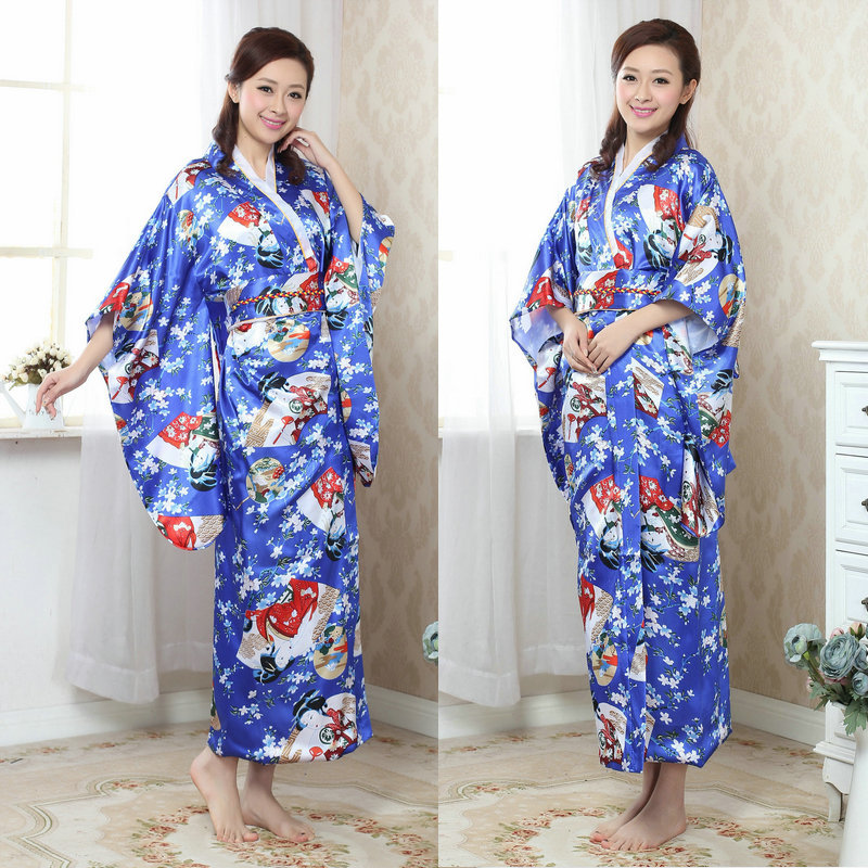 Traditional Japanese Kimonos New 2017 Clothing on Sale Woman Stage Costume Yukata Japanese Geisha Kimono