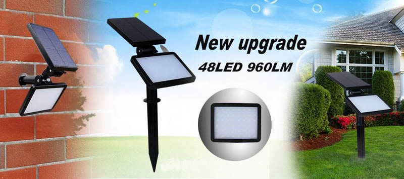 New Outdoor Solar Lamp IP65 Waterproof Modern Garden Solar lights 48leds SMD 2835 Emergency Led Lawn Lighting Bulb Lampe Solaire (11)