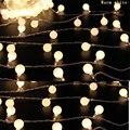 2 M 20 bola LED Funciona Con Pilas LLEVÓ Cadena de Luces de Navidad Garland Partido Decoración de La Boda de Navidad Flasher Luces de Hadas