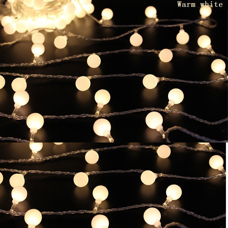 Battery Operated String Xmas Lights : 2M 20 LED ball Battery Operated LED String Lights for Xmas Garland Party Wedding Decoration ...
