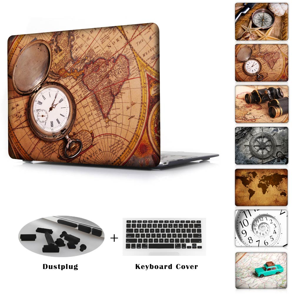 цена на Redlai Retro Sailing Map Clear For Macbook Case Laptop Case For Apple Macbook Air 11 13 Car case For Macbook Pro 13 15 Retina
