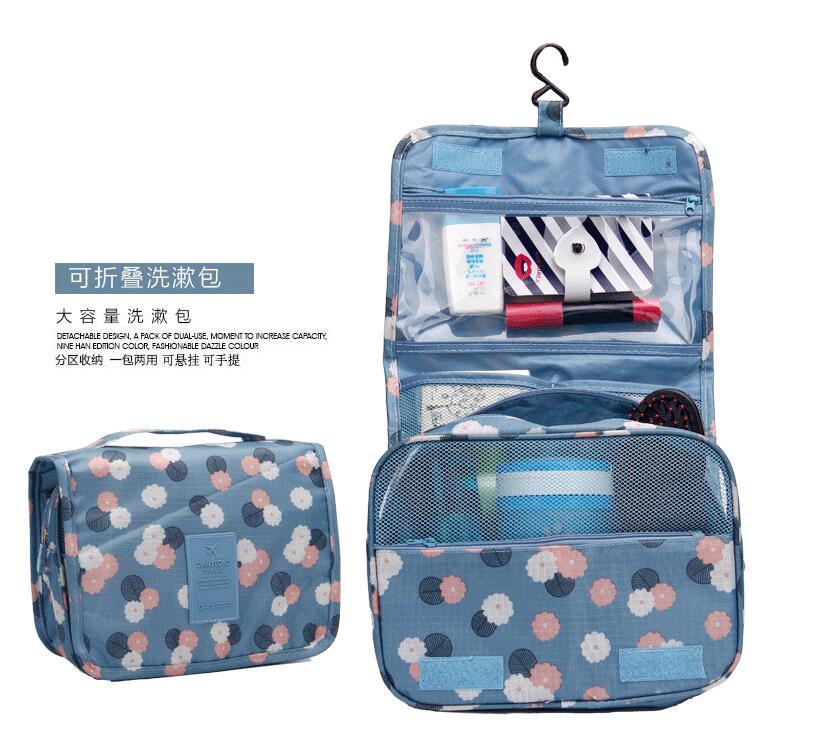 8abb24692 سفر كيس ماء المحمولة أدوات الزينة حقيبة المرأة حقائب ماكياج التجميل المنظم  الحقيبة شنقا لطيف غسل حقيبة المهنية