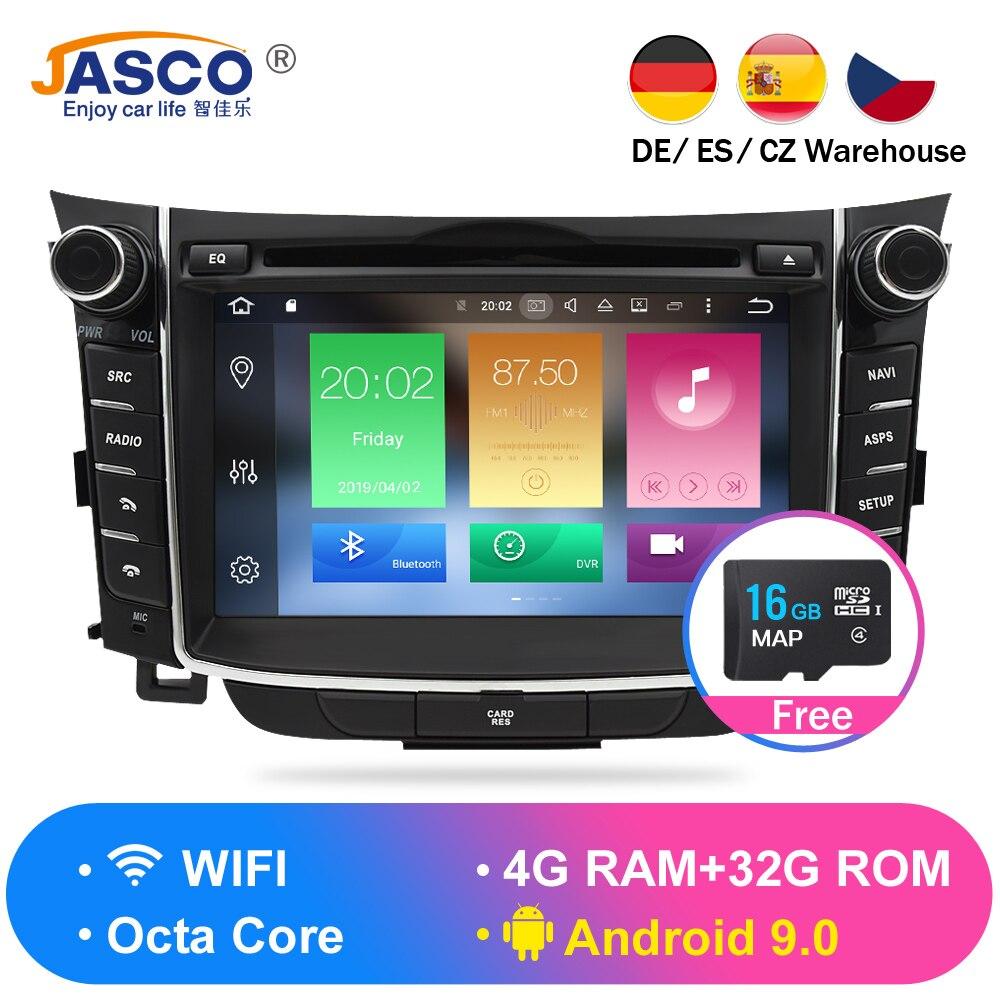 4 gb android 9.0 carro estéreo dvd player gps glonass navegação para hyundai i30 elantra gt 2012 + vídeo multimídia rádio unidade central