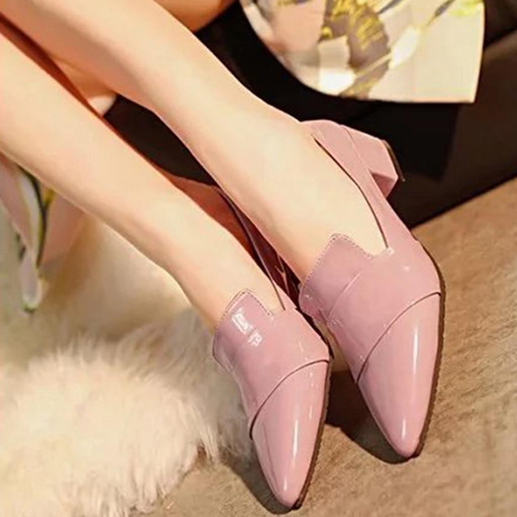 Moda Bota Zapatos Señaló Individuales Salvaje Mujer Xiniu 2018 rosado vino Baja Chaussures Tinto De Tobillo Femme Negro wvE55Xq