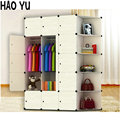 The new simple wardrobe closet light gray plastic resin folding removable storage cabinets magic piece wardrobe style cloth