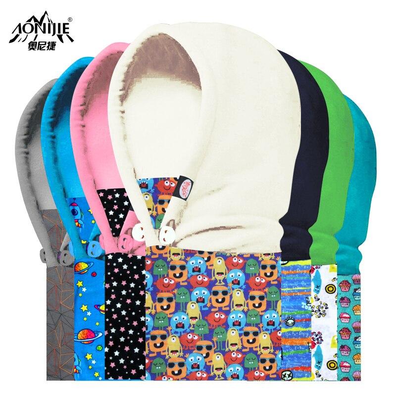 Prix pour Enfant de Polaire Balaclava Masque Cou Capot Hat Cap Cosplay Enfant Polaire Froid-preuve Ouragan Lampe Enfant Chapeaux