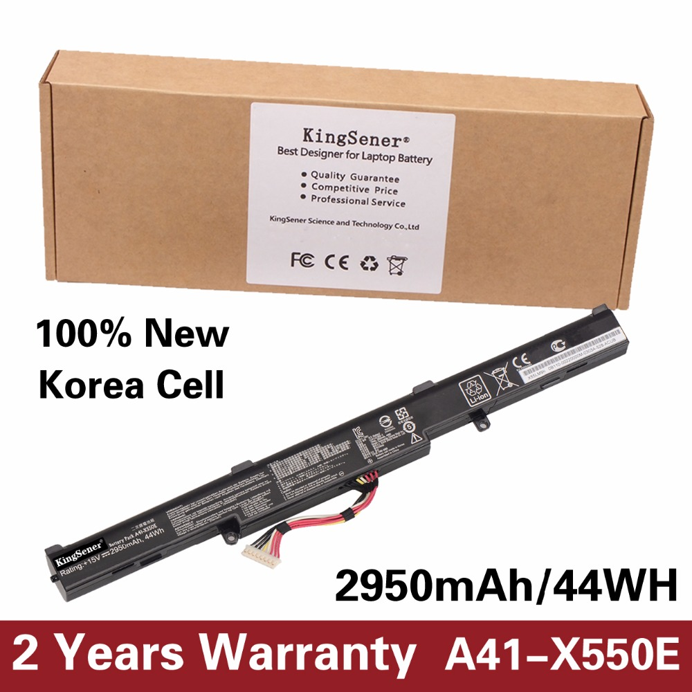 все цены на  KingSener Korea Cell New Laptop Battery A41-X550E for ASUS X450 X450E X450J X450JF X751L A450J A450JF A450E F450E 15V 2950mAh  онлайн