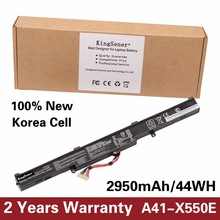 Kingsener Корея сотовый новый ноутбук Батарея A41-X550E для ASUS X450 X450E X450J X450JF X751L A450J A450JF A450E F450E 15 В 2950 мАч