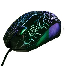 Beitas USB Wired Mouse 2400DPI 3 Buttons Optical  Gaming Game Mouse 7 Colors LED luminous mouse for PC Laptop Computer