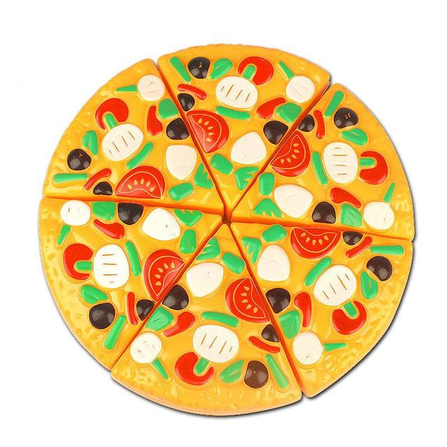 Delicious Cutting Pizza Toy Plastic Kitchen Pretend Play Food Toys Best Gifts For Baby Kids Children