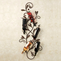 Pastoral Style Wine Rack 35X11X80cm Hanging Upside Down Creative Red Bottle Rack Iron Wall Frame Wine Rack