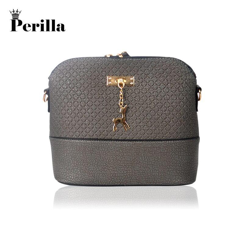 Perilla women PU leather small shoulder bag women Deer Crossbody bag Women shoulder bags girl messenger bag metal deer detail crossbody bag