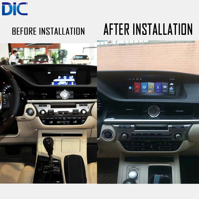 DLC Android system Navigation GPS player Video autoradio Steering-Wheel bluetooth For <font><b>lexus</b></font> 2013-2017 ES 240 <font><b>250</b></font> 300 350 image