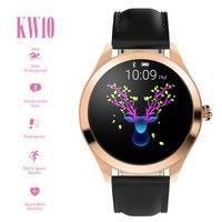 KW10 Smart Uhr IP68 Wasserdichte Bluetooth 4,0 Smartwatch-Armband Heart Rate Monitor Sitzende Erinnerung für Android iOS