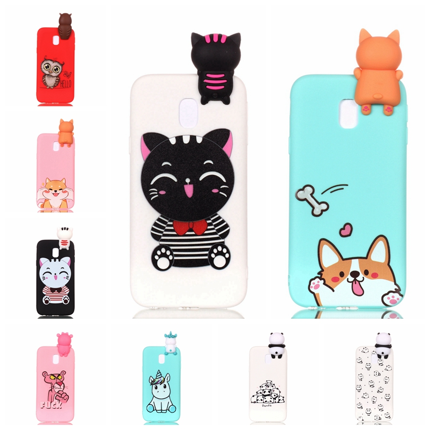 for coque samsung galaxy j3 2017 case 3d cartoon toy owl panda unicorn cat soft silicon back