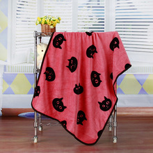 Fleece Black Cat Blanket
