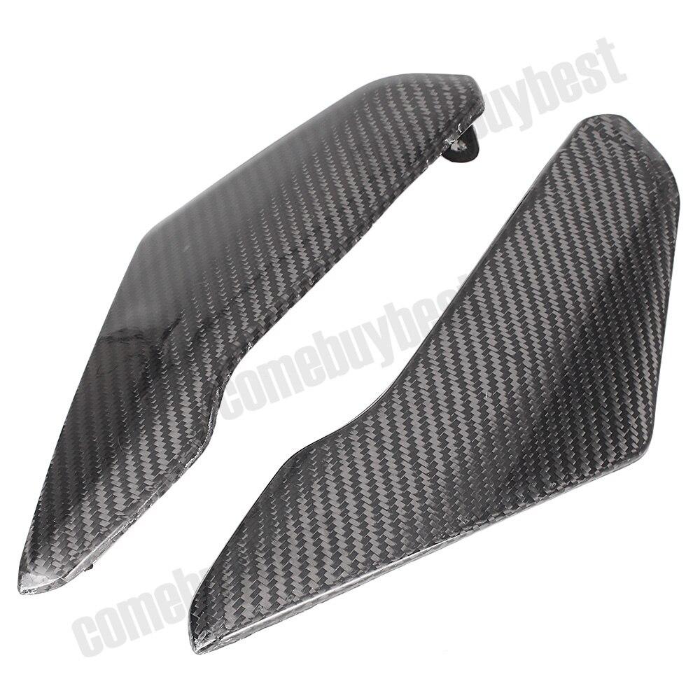 2 шт. волокна бак боковые панели крышки углерода Обтекателя для Suzuki GSXR600 GSXR750 2004 2005 части мотоцикла